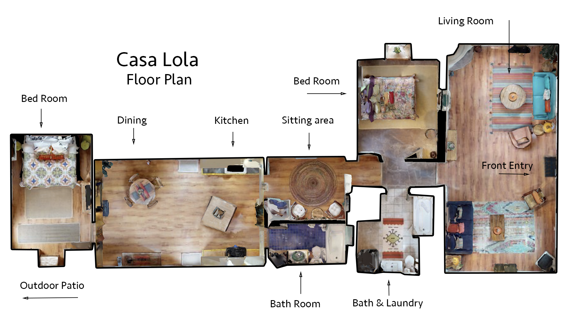 Floor Plan for Casa Lola