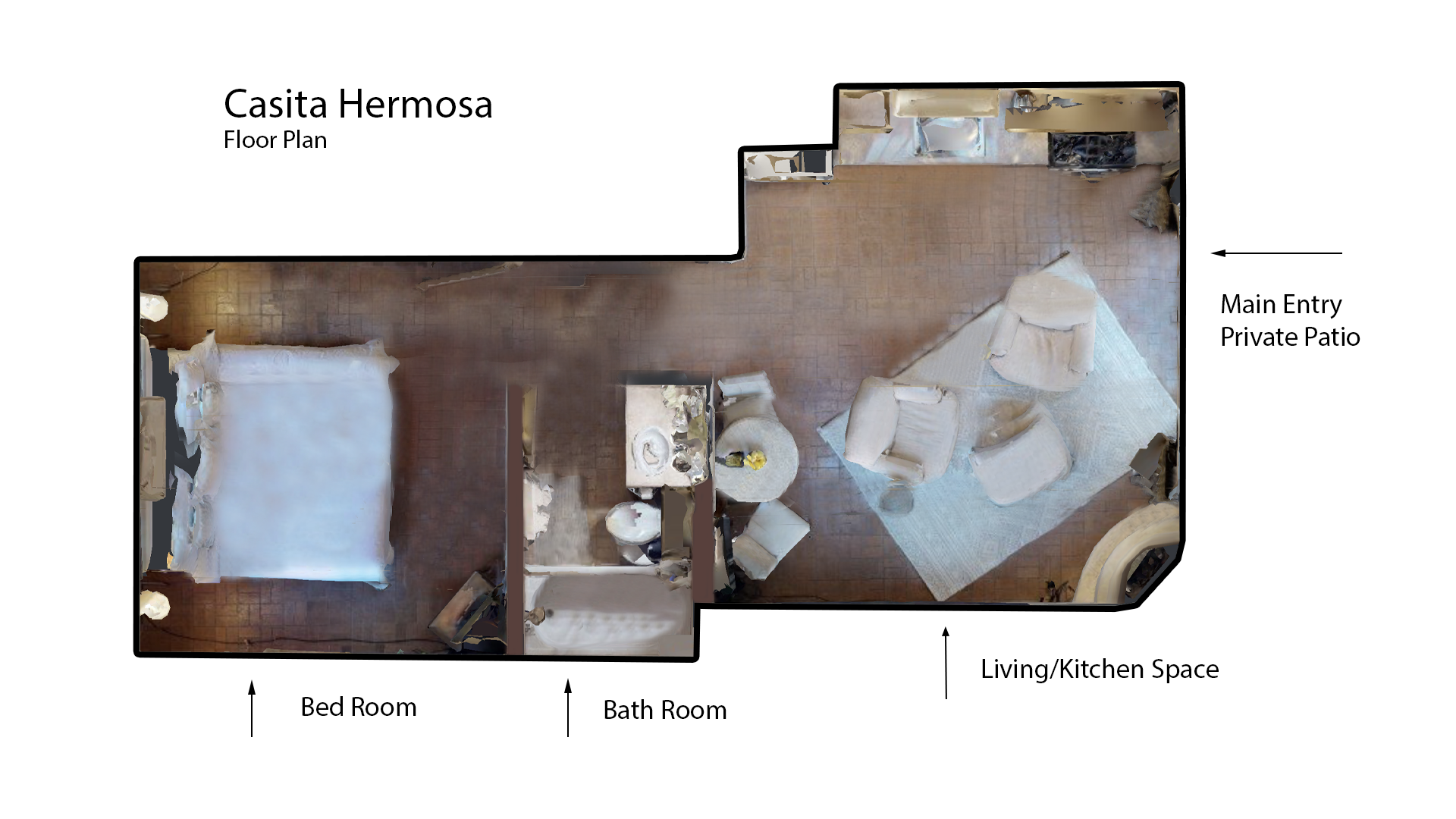 Floor Plan for Casita Hermosa
