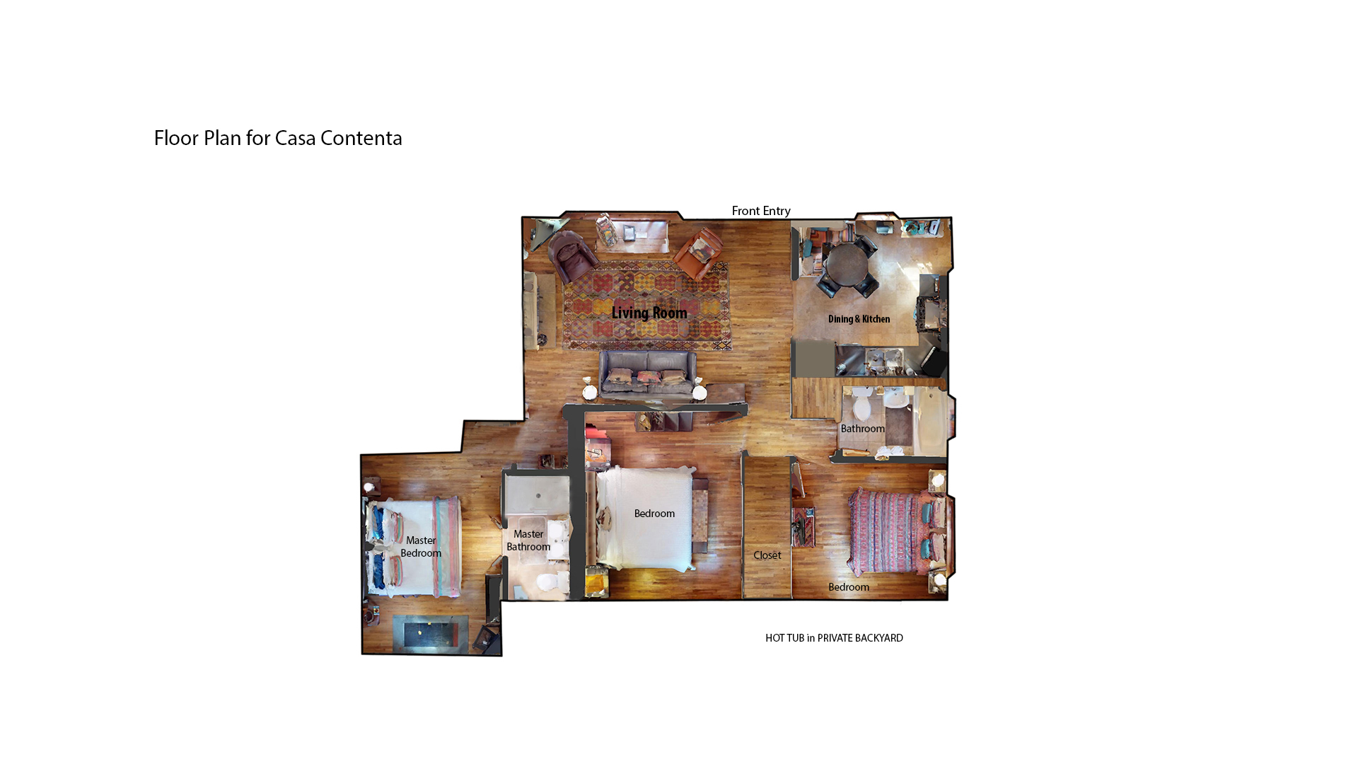 Floor Plan for Casa Contenta