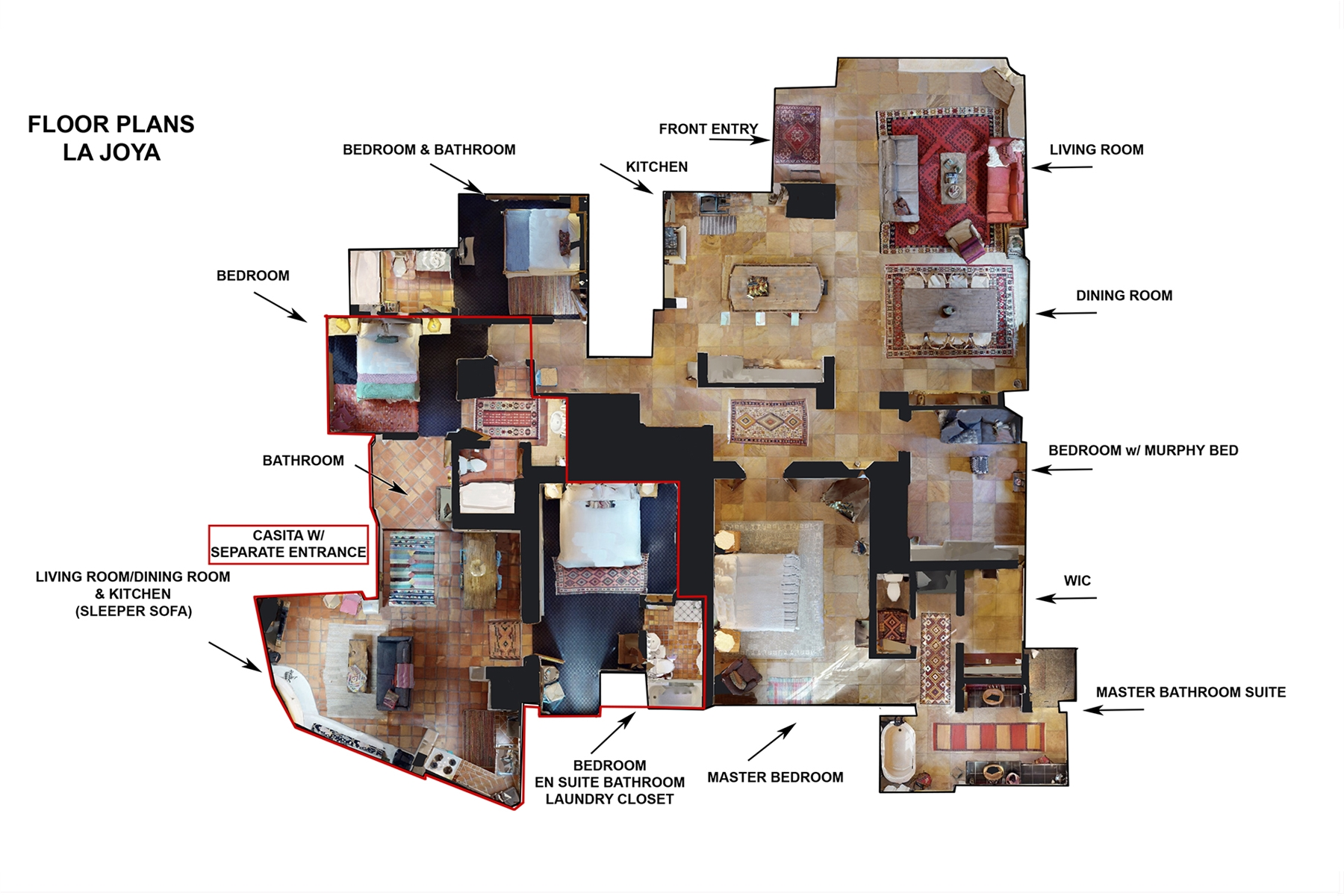 Floor Plan for La Joya
