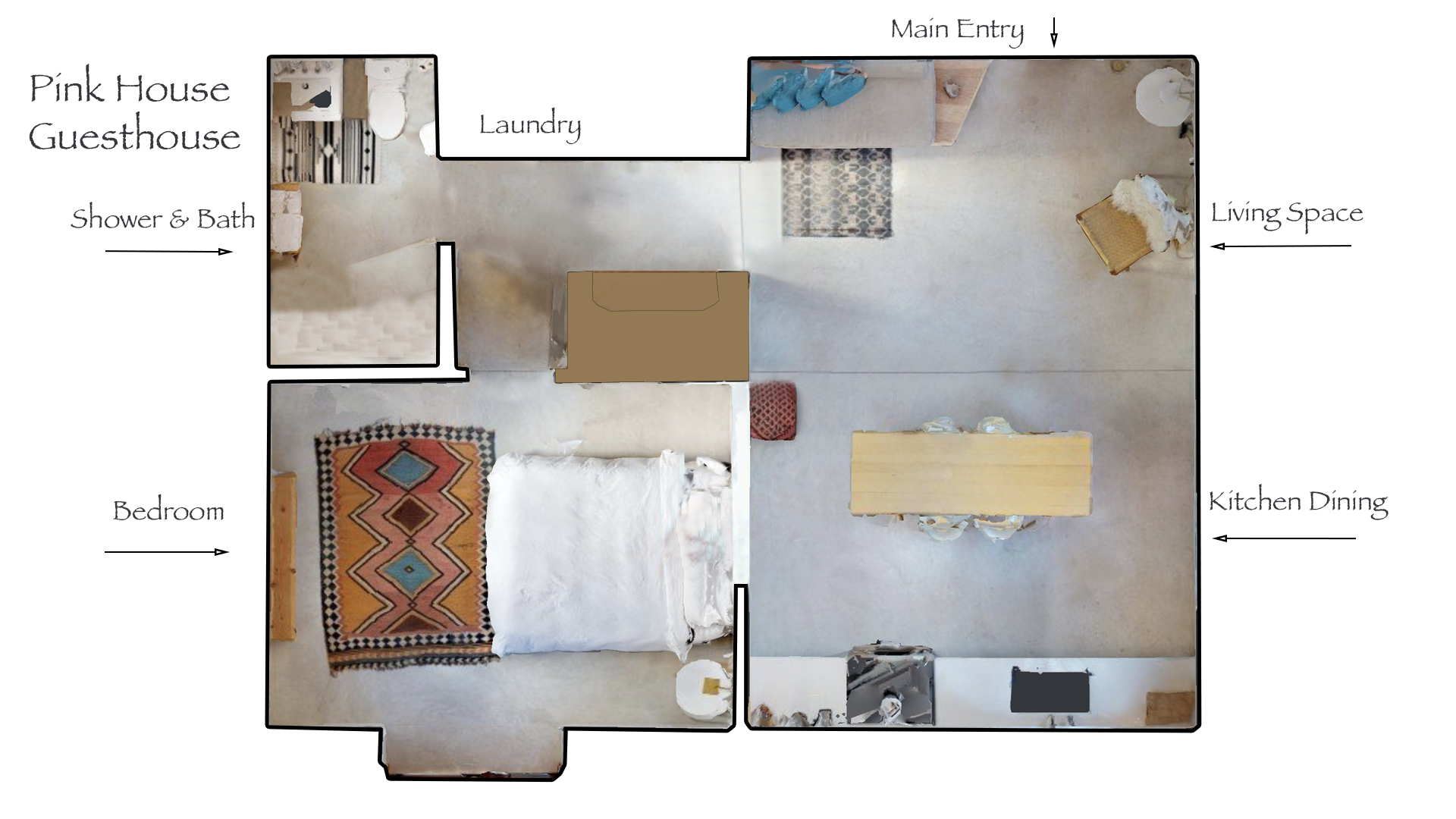 Floor Plan for Pink House Guesthouse