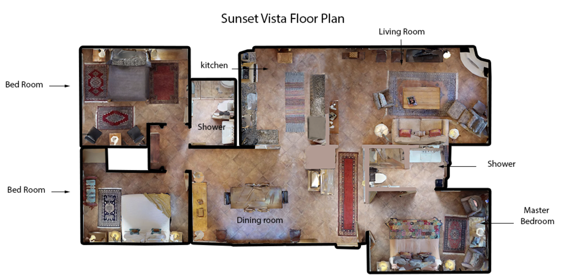 Floor Plan for Sunset Vista
