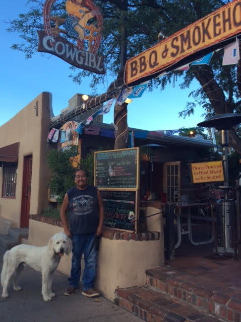 Address: 406 Old Santa Fe Trail, Santa Fe, NM 87501 Phone:(505) 983 7712.  The Pink Adobe Patio; Man Oh Man Is This A Great Place!